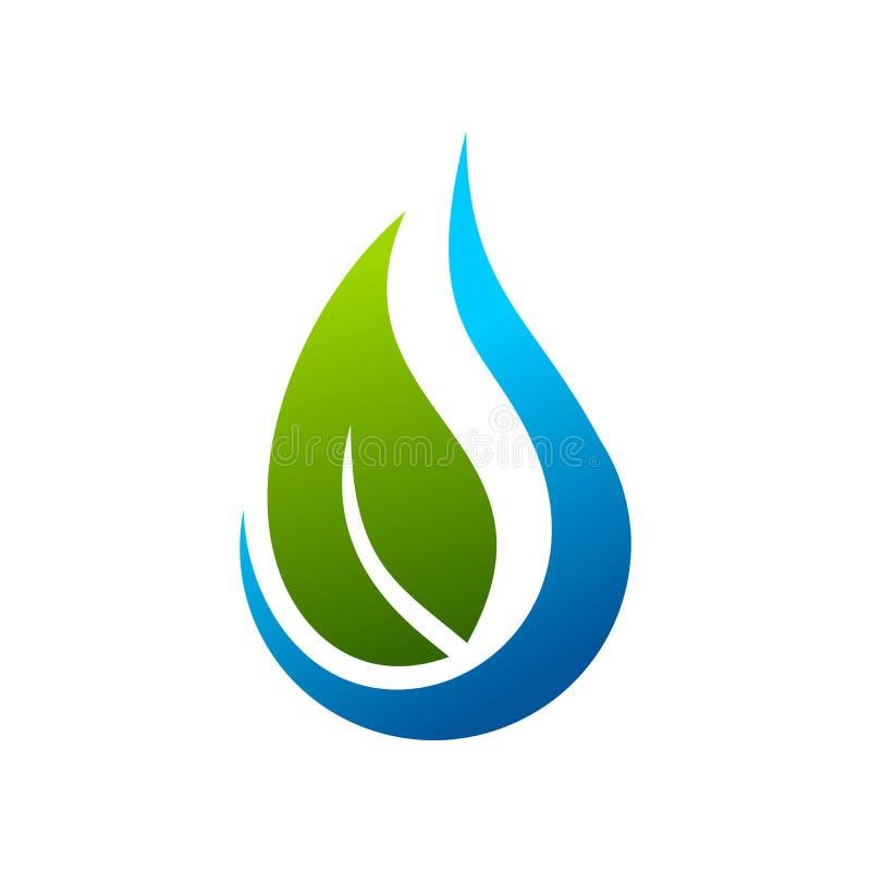Símbolo Logo Design Template da gota da água de Eco ilustração stock