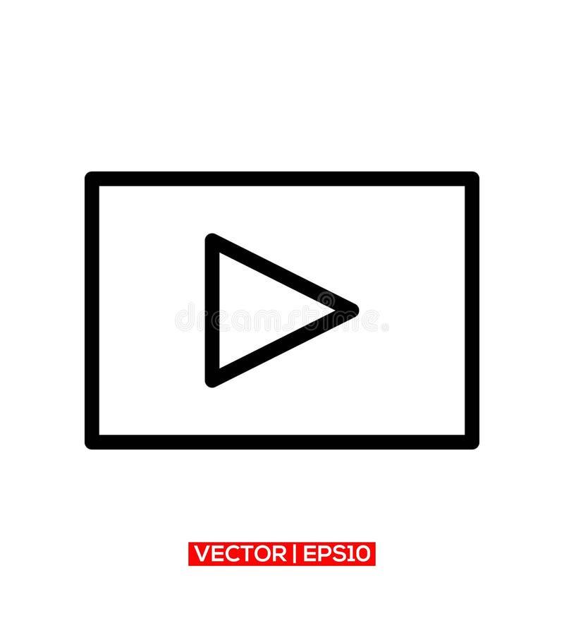 Símbolo Logo Icon Vector del botón de las multimedias del juego ilustración del vector