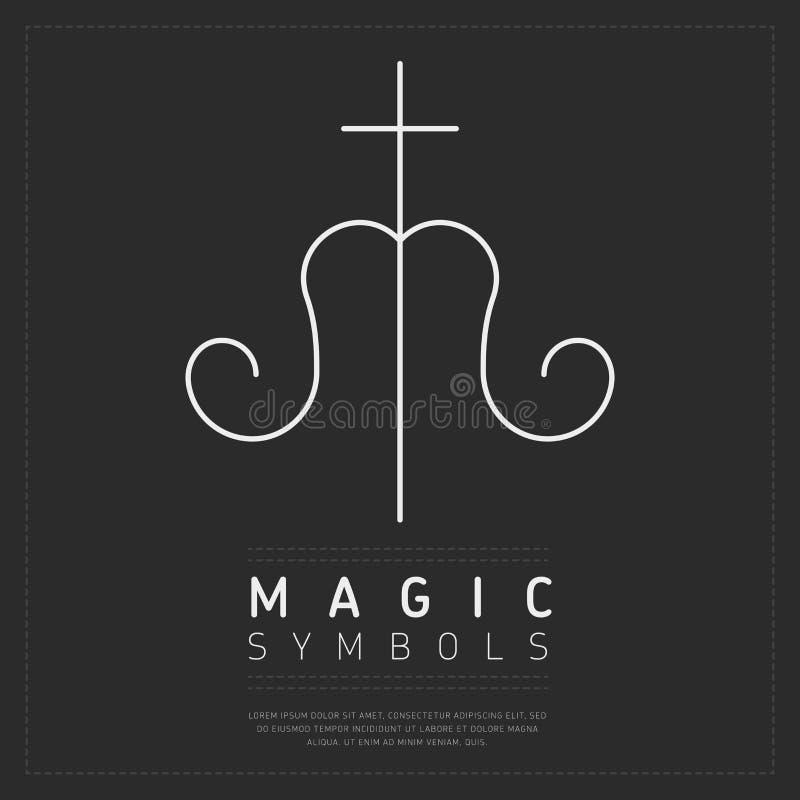 Símbolo mágico icónico en gris stock de ilustración