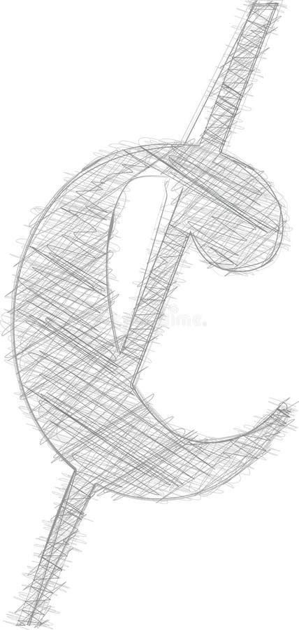Símbolo a mão livre ilustração royalty free