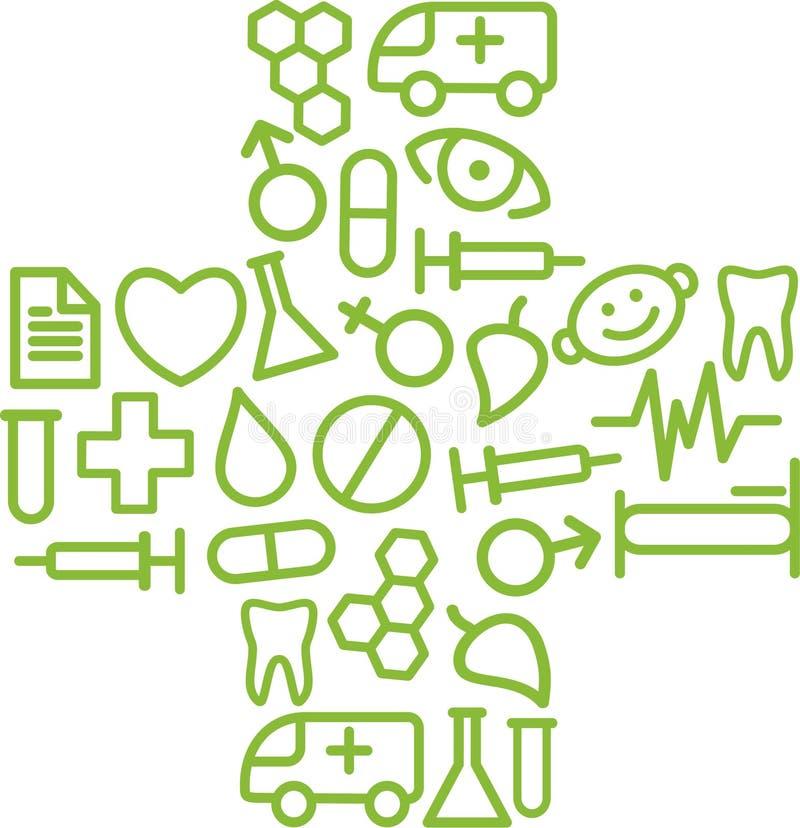Símbolo médico ilustração do vetor