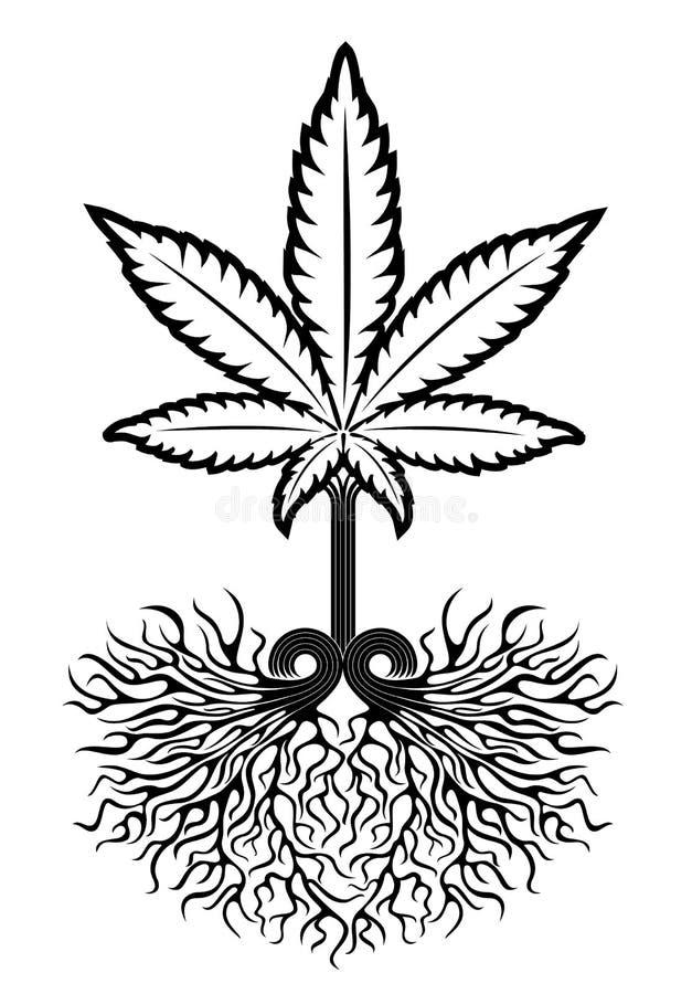 Símbolo médico de la hoja de la marijuana  imagenes de archivo