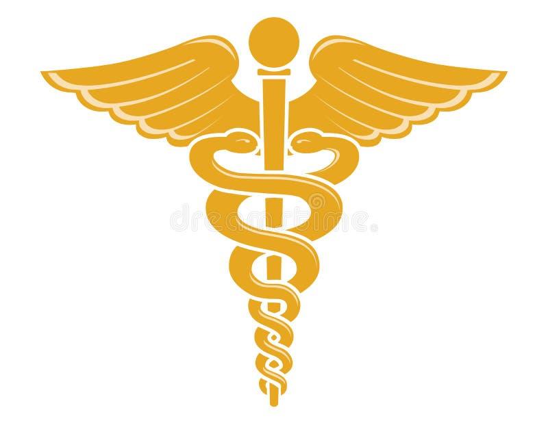 Símbolo médico del caduceo ilustración del vector