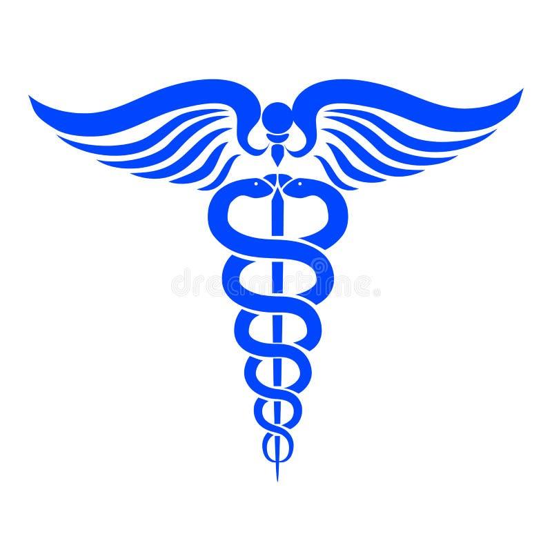 Símbolo médico del caduceo - vector stock de ilustración