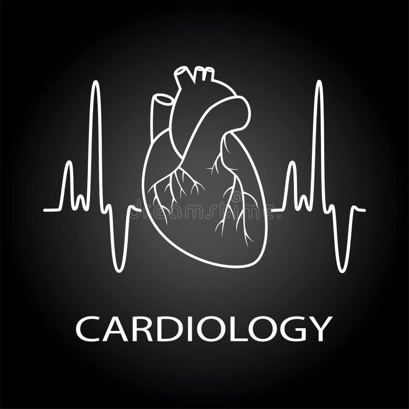 Símbolo médico do coração humano ilustração stock