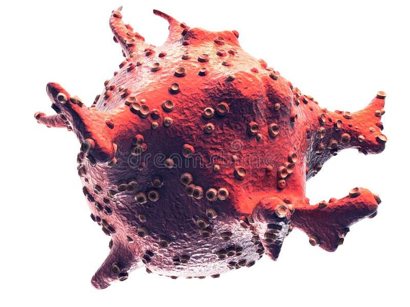 Símbolo médico do vírus e da bactéria foto de stock royalty free