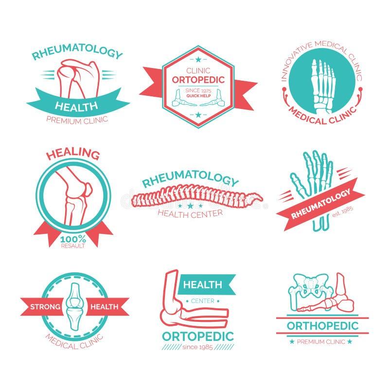 Símbolo médico e diagnóstico ortopédico da clínica ilustração royalty free