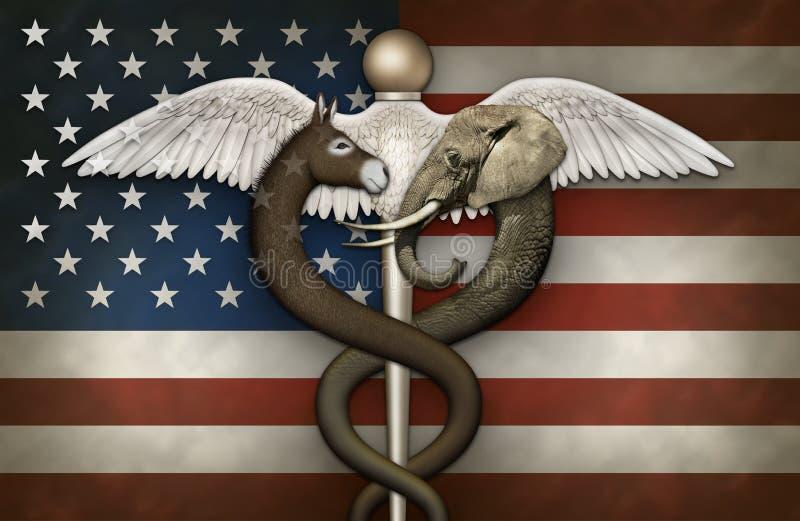 Símbolo médico político e bandeira ilustração royalty free