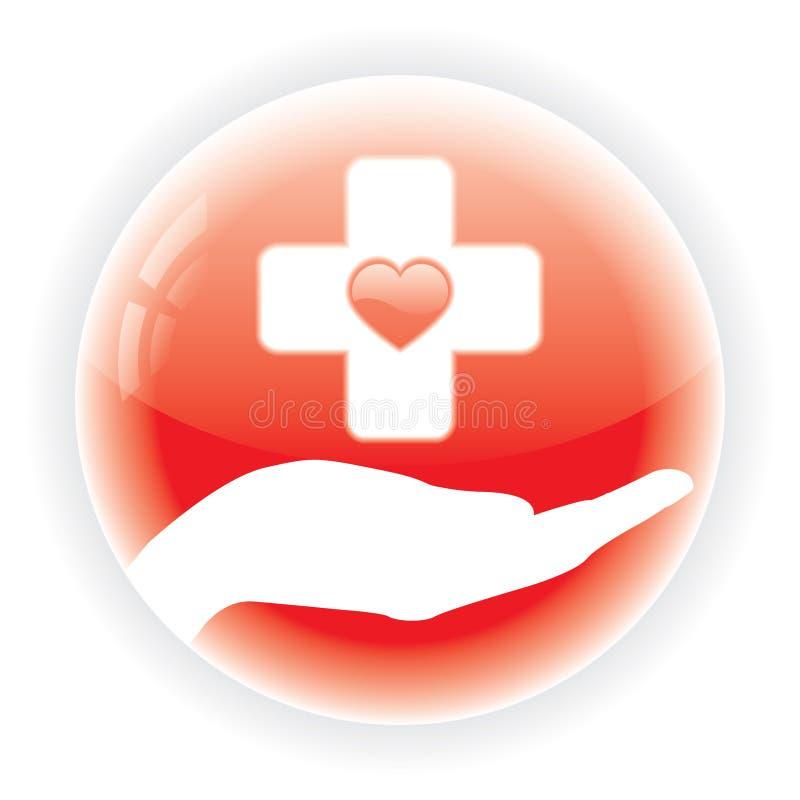 Símbolo médico vermelho   ilustração royalty free