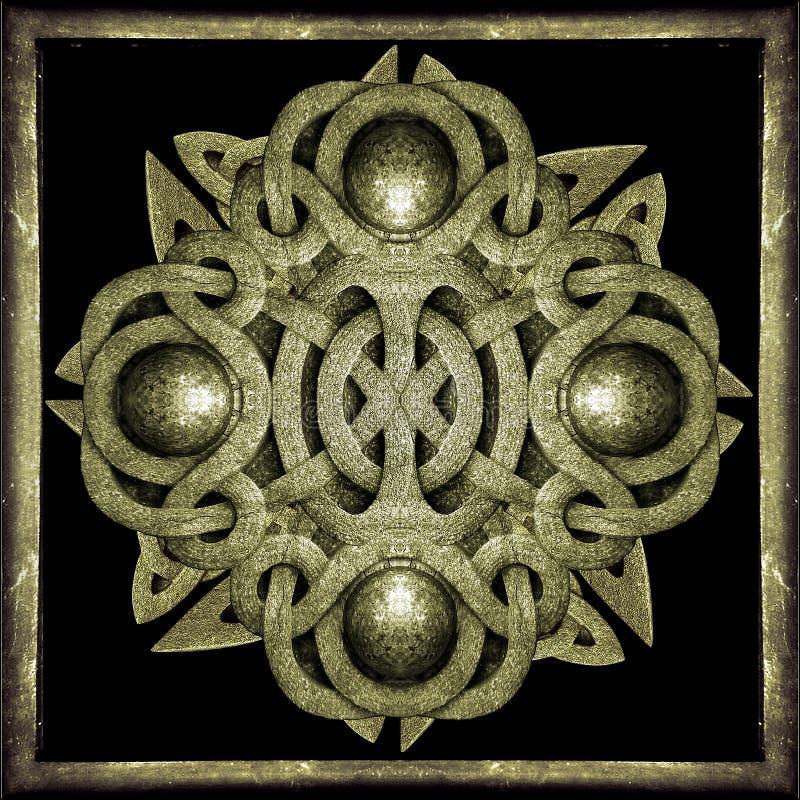 Símbolo místico de piedra stock de ilustración