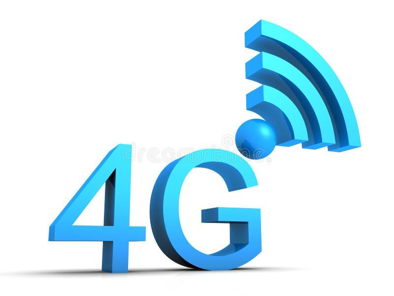símbolo móvel da conexão 4g ilustração do vetor