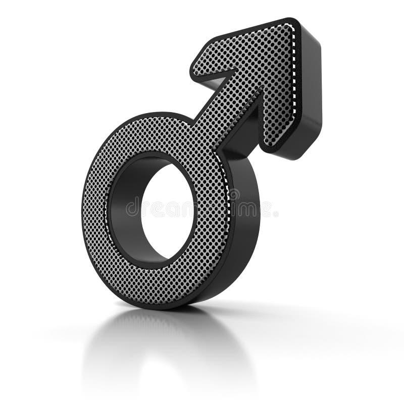 Símbolo masculino ilustración del vector