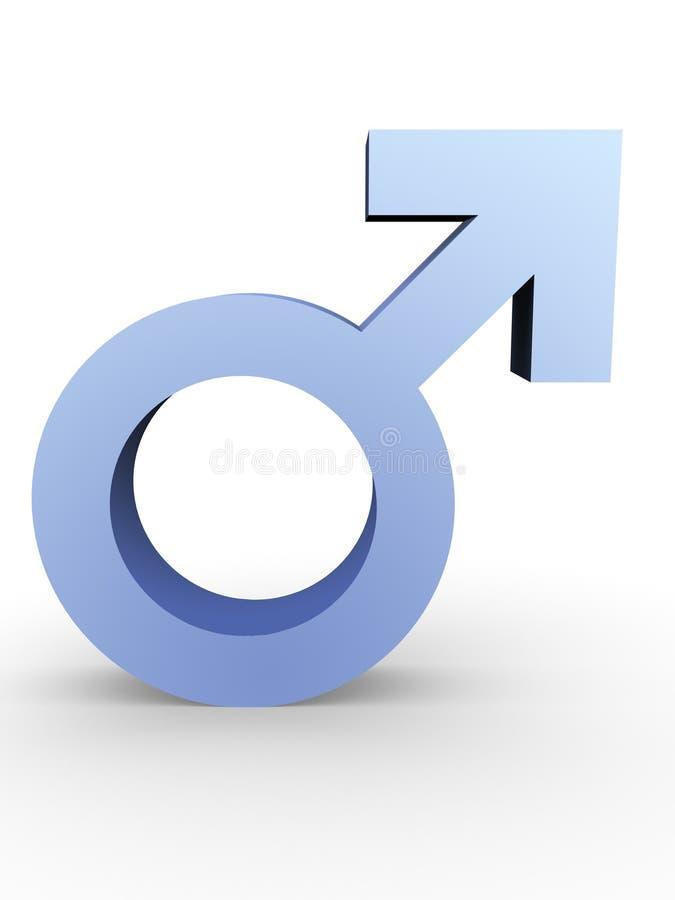 Símbolo masculino stock de ilustración