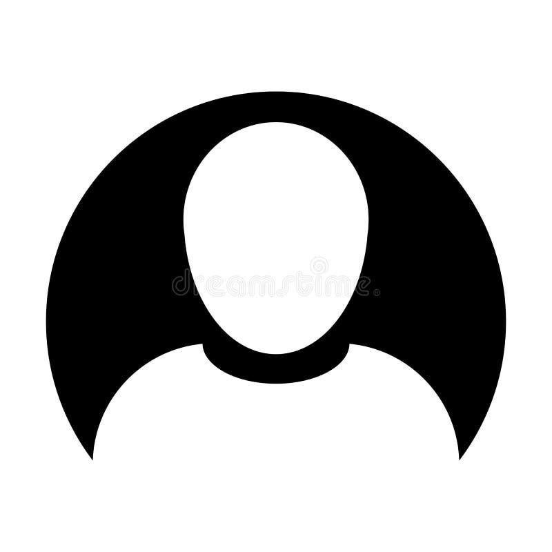 Símbolo masculino do avatar do perfil de usuário do vetor do ícone da pessoa no pictograma liso do glyph da cor do círculo ilustração do vetor