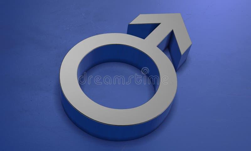 Símbolo masculino en 3D ilustración del vector