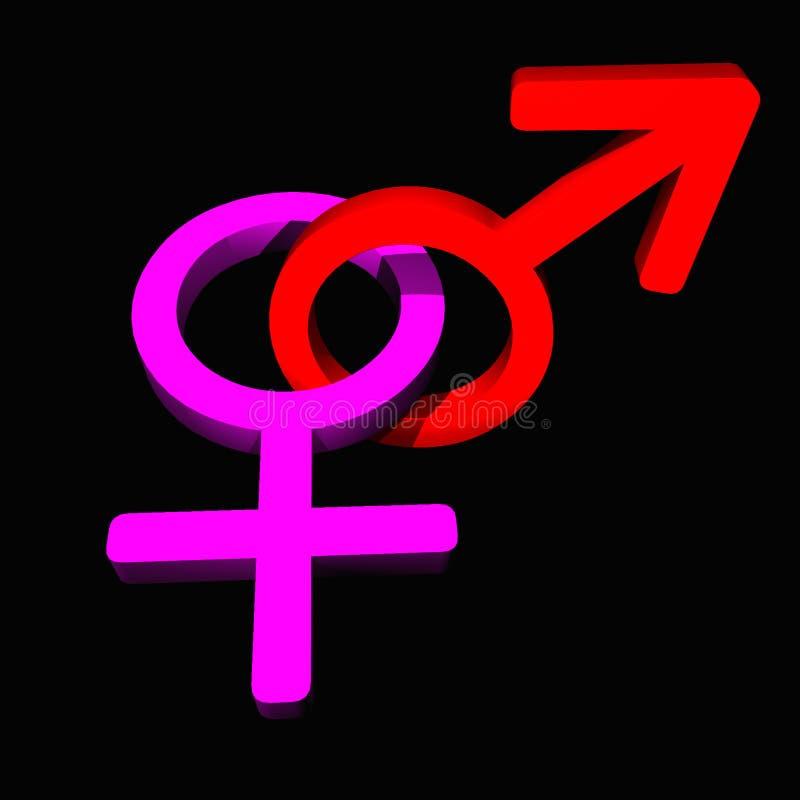 Símbolo masculino/fêmea ilustração do vetor