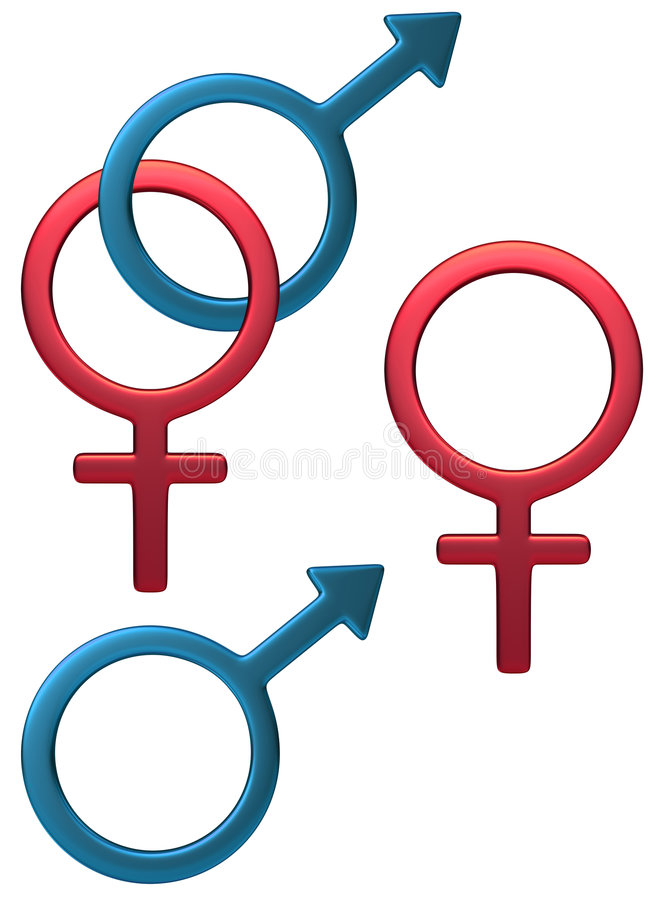 Símbolo masculino femenino stock de ilustración