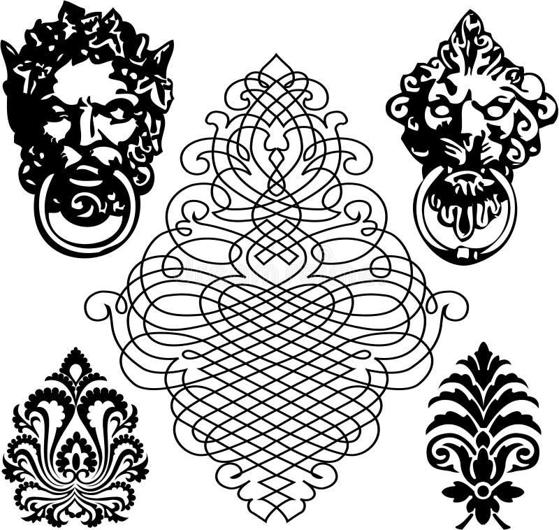 Símbolo medieval ilustração do vetor