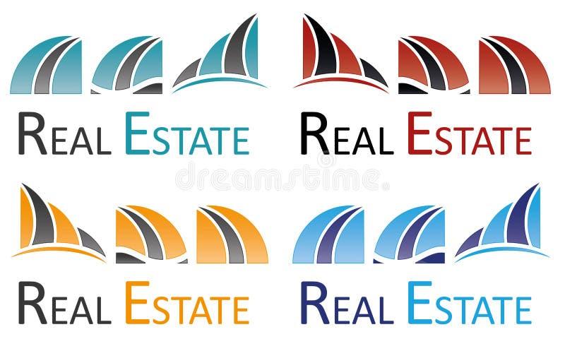 Símbolo mega da arquitetura de Real Estate Logo Building Icon House Home do grupo ilustração do vetor