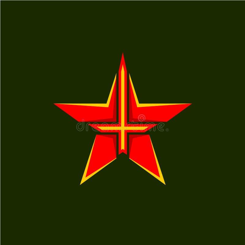 Símbolo militar da estrela ilustração stock