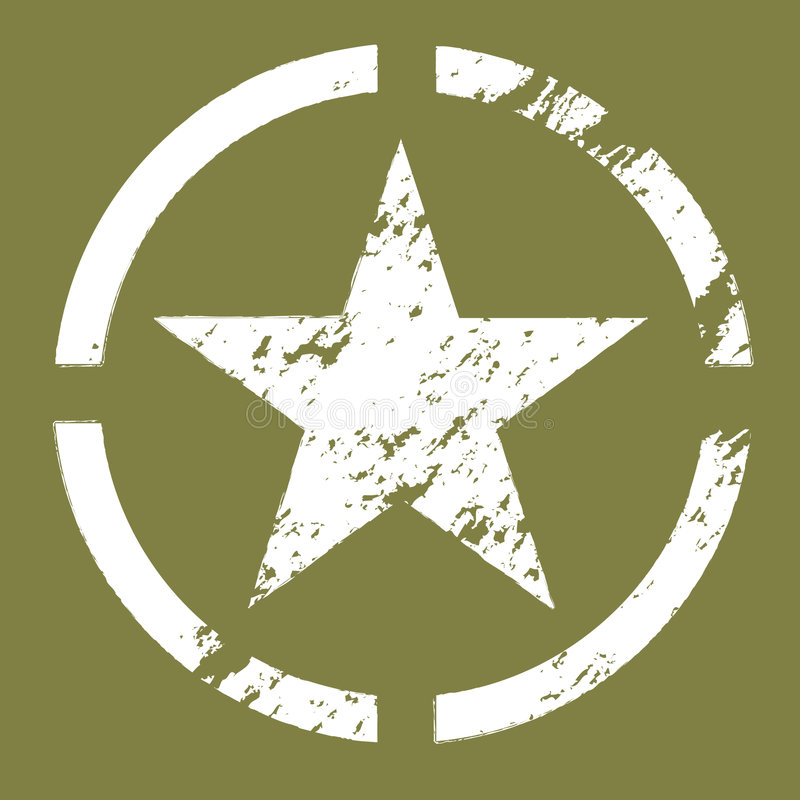 Símbolo militar da estrela foto de stock royalty free