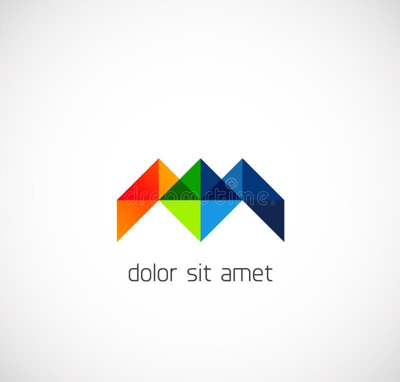 Símbolo moderno del negocio del extracto del triángulo libre illustration