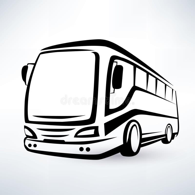 Símbolo moderno do ônibus ilustração royalty free