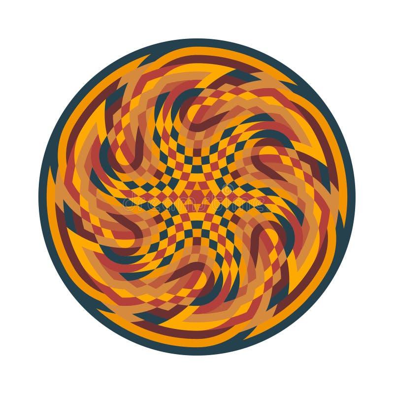 Símbolo multicolorido abstrato ilustração do vetor