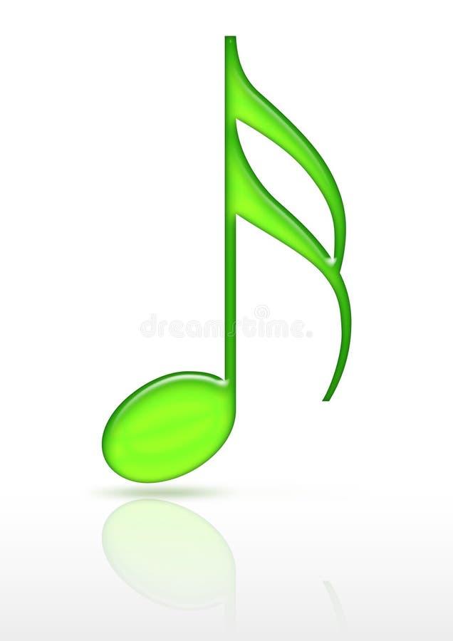 Símbolo musical ilustração do vetor