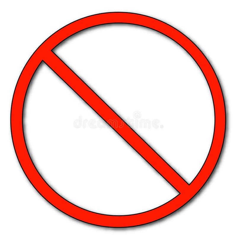 Símbolo não permitido ilustração do vetor