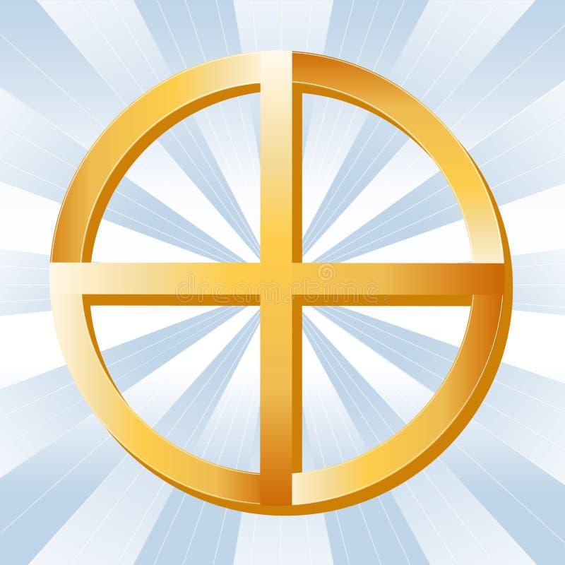 Símbolo nativo de la espiritualidad stock de ilustración
