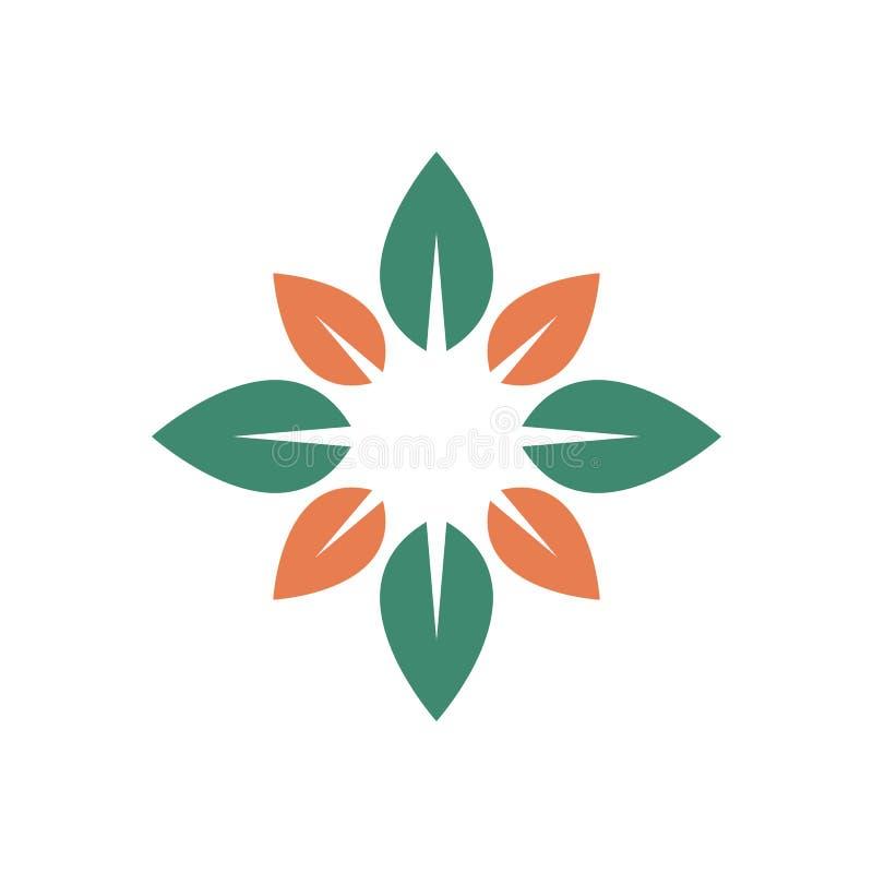 Símbolo natural da folha ilustração stock