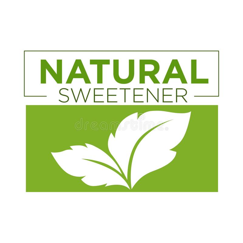 Símbolo natural do verde do edulcorante do stevia ou do logotipo da grama doce ilustração royalty free