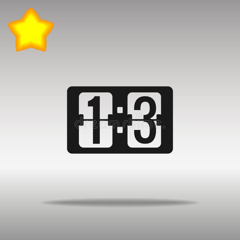 Símbolo negro del logotipo del botón del icono del marcador stock de ilustración