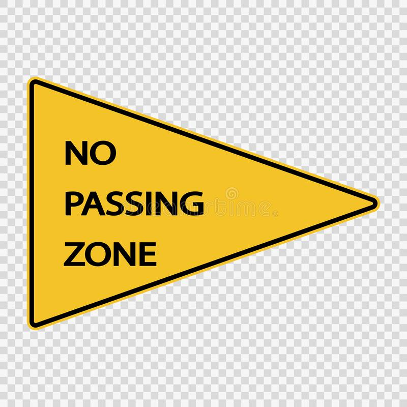 Símbolo nenhum sinal de passagem da zona no fundo transparente ilustração do vetor