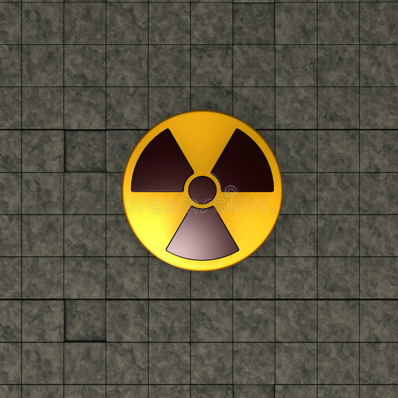 Símbolo nuclear ilustração stock