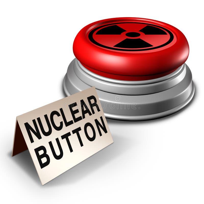 Símbolo nuclear do perigo do botão ilustração do vetor