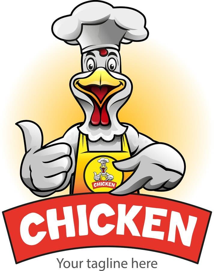 Símbolo o logotipo bien escogido del pollo libre illustration