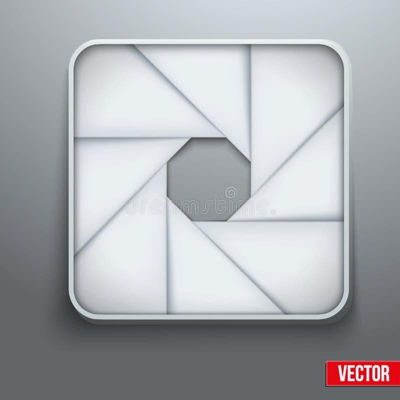 Símbolo objetivo da fotografia do ícone da abertura da câmera ilustração stock