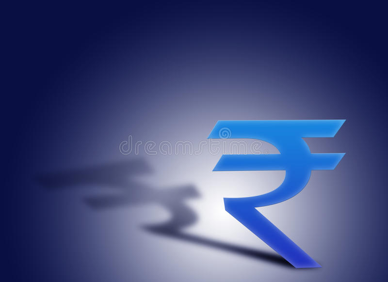 Símbolo oficial da rupia ilustração do vetor