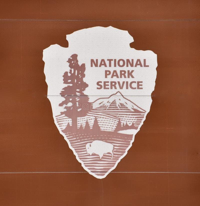 Símbolo Oficial do Sistema do Parque Nacional imagens de stock