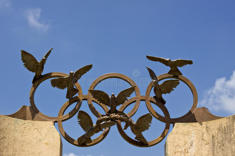 Símbolo olímpico imagens de stock royalty free