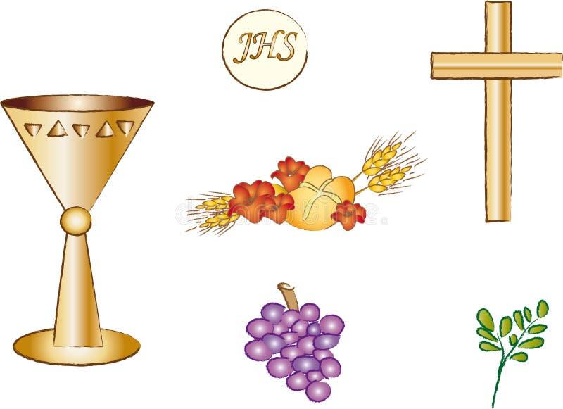 Símbolo para el cristianismo stock de ilustración