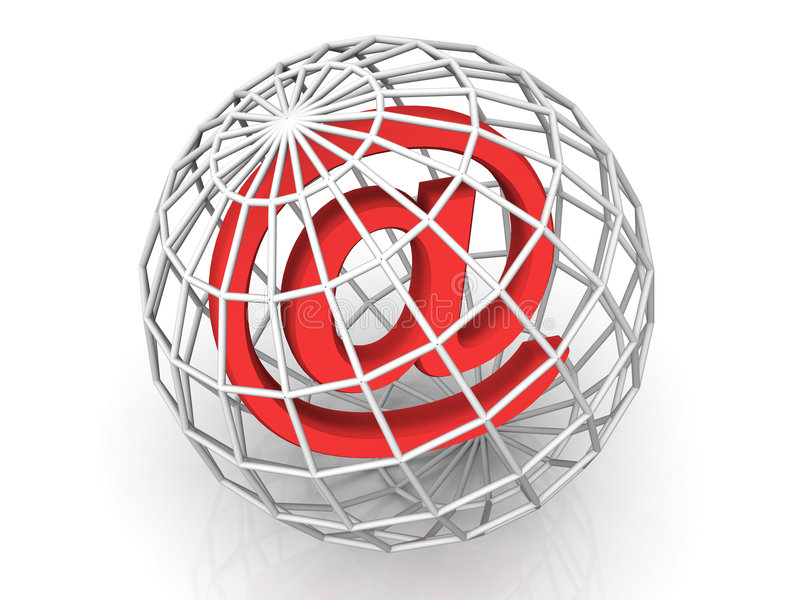 Símbolo para el Internet stock de ilustración