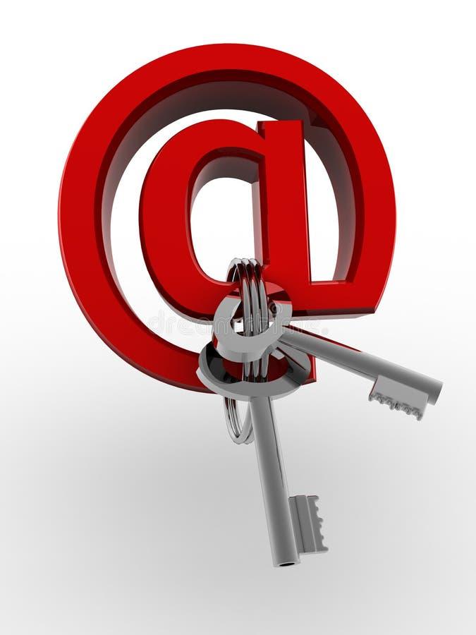 Símbolo para el Internet con claves stock de ilustración