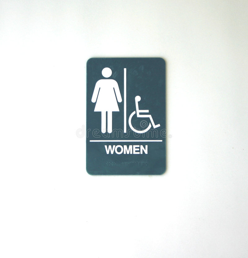 Símbolo para el lavabo de las mujeres fotos de archivo
