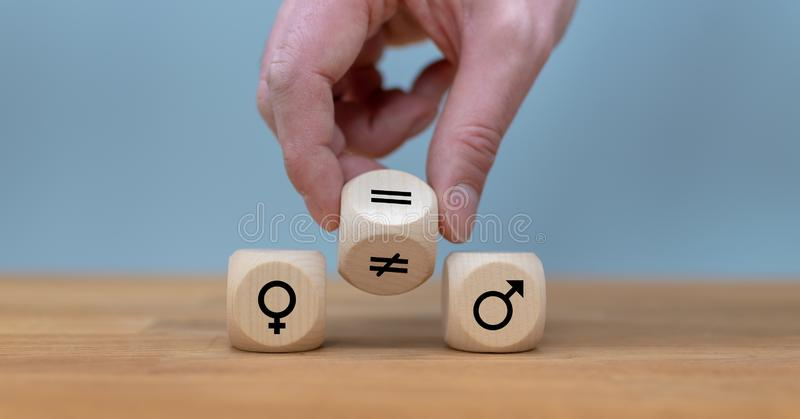 Símbolo para la igualdad de género imagen de archivo libre de regalías