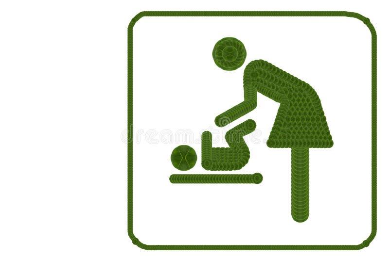 Símbolo para las mujeres y el bebé fotos de archivo