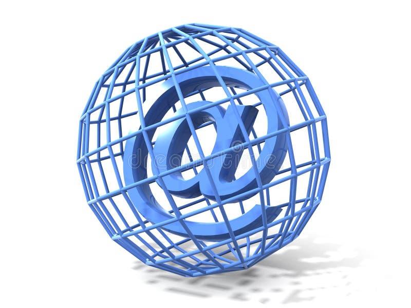 Símbolo para o Internet ilustração stock
