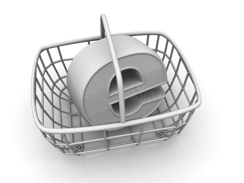 Símbolo para o Internet. 3d ilustração stock
